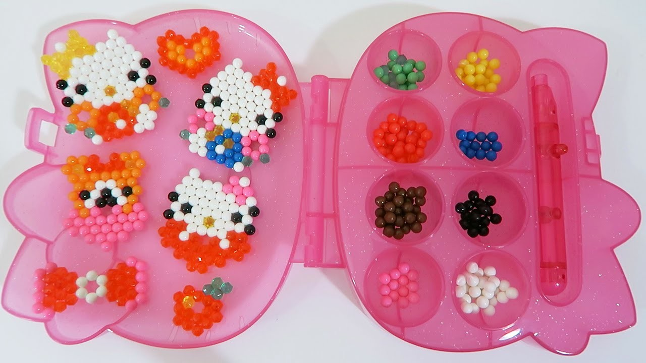 Hello Kitty AquaBeads Barrette Playset Part 2 | DIY Make Your Own Hello Kitty Bead Accessories!