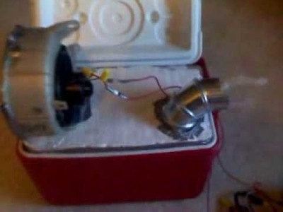 Homemade Air Conditioner with Car Blower Motor