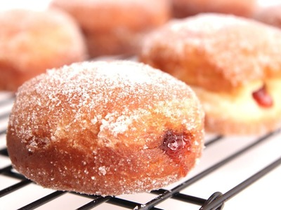 Homemade Jelly Donut Recipe - Laura Vitale - Laura in the Kitchen Episode 787