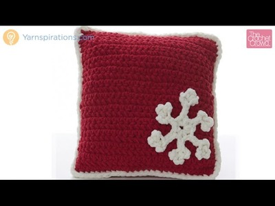 How to Crochet A Snowflake Pillow