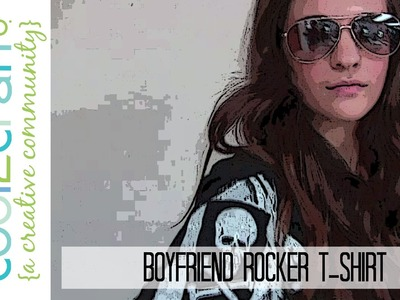 How to Make a Boyfriend Rocker Tee with Paint, Stencil and a Roller
