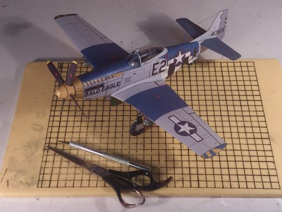 How to make a cool paper plane model: instruction| P-51D Mustang