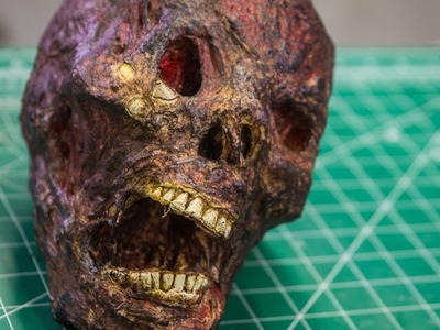 How To Make a Realistic Horror Skull Prop!