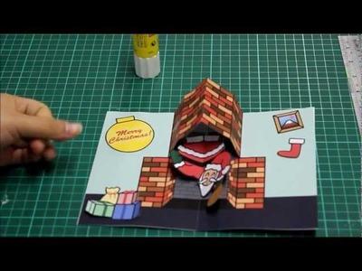 How to Make a Santa Christmas Pop Up Card Tutorial
