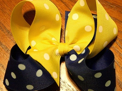 How to make a two tone (color) hairbow (2 tone bow tutorial)