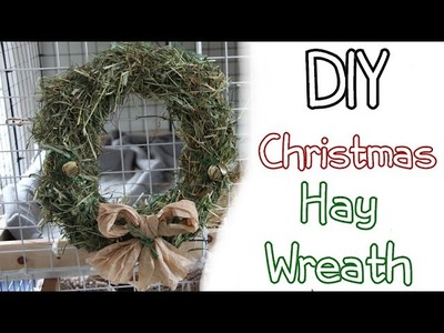 How To Make DIY Rabbit Toy-Hay Wreath-Homemade Christmas DIY