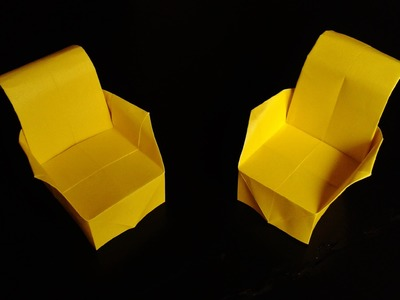 How to make paper armchair origami