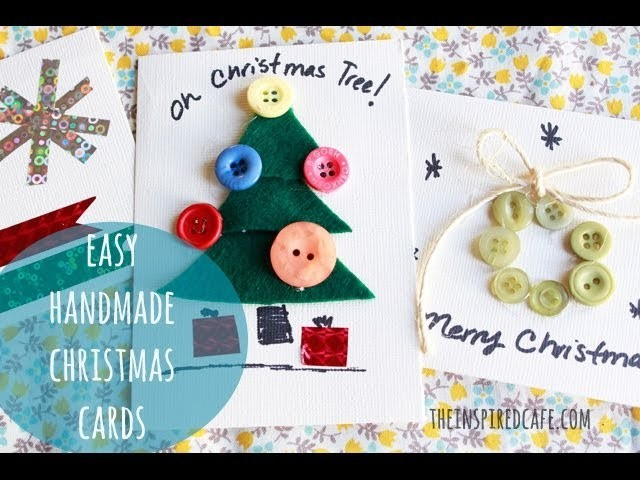 How to make simple DIY Christmas Cards