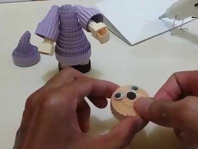 How to make witch with kokoru paper