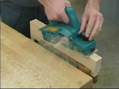 How to Use a Power Planer : Planing Operation for a Power Planer