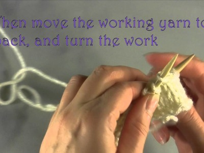 How to Wrap and Turn on the Purl side