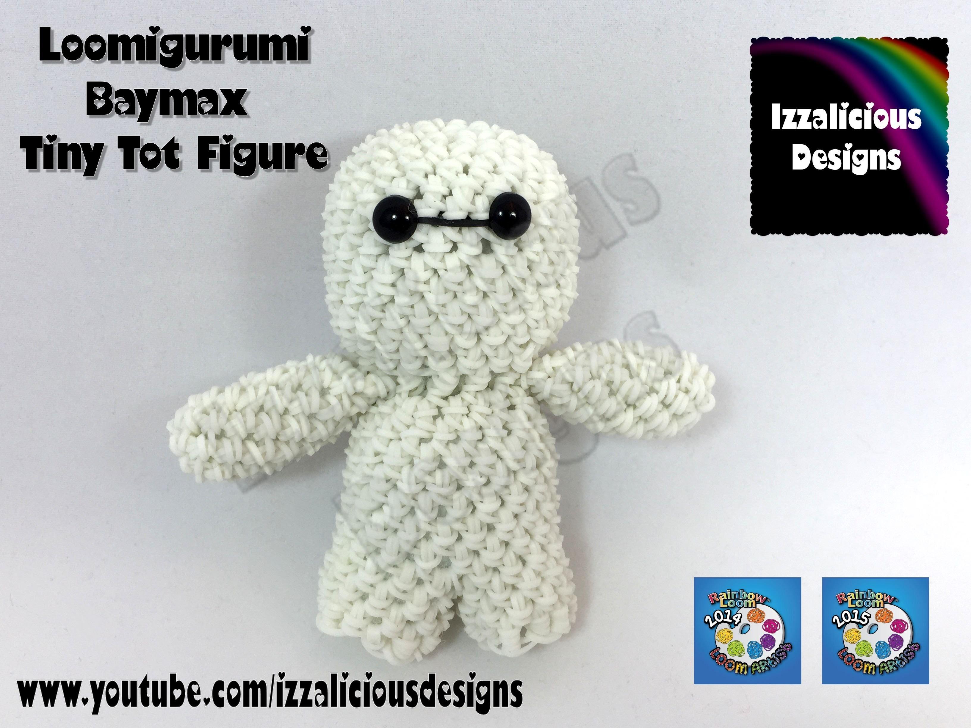 Loomigurumi Baymax Tiny Tot Figure - hook only - amigurumi with Rainbow Loom Bands