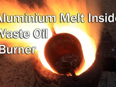 Making a metal melting furnace from DIY oil burner