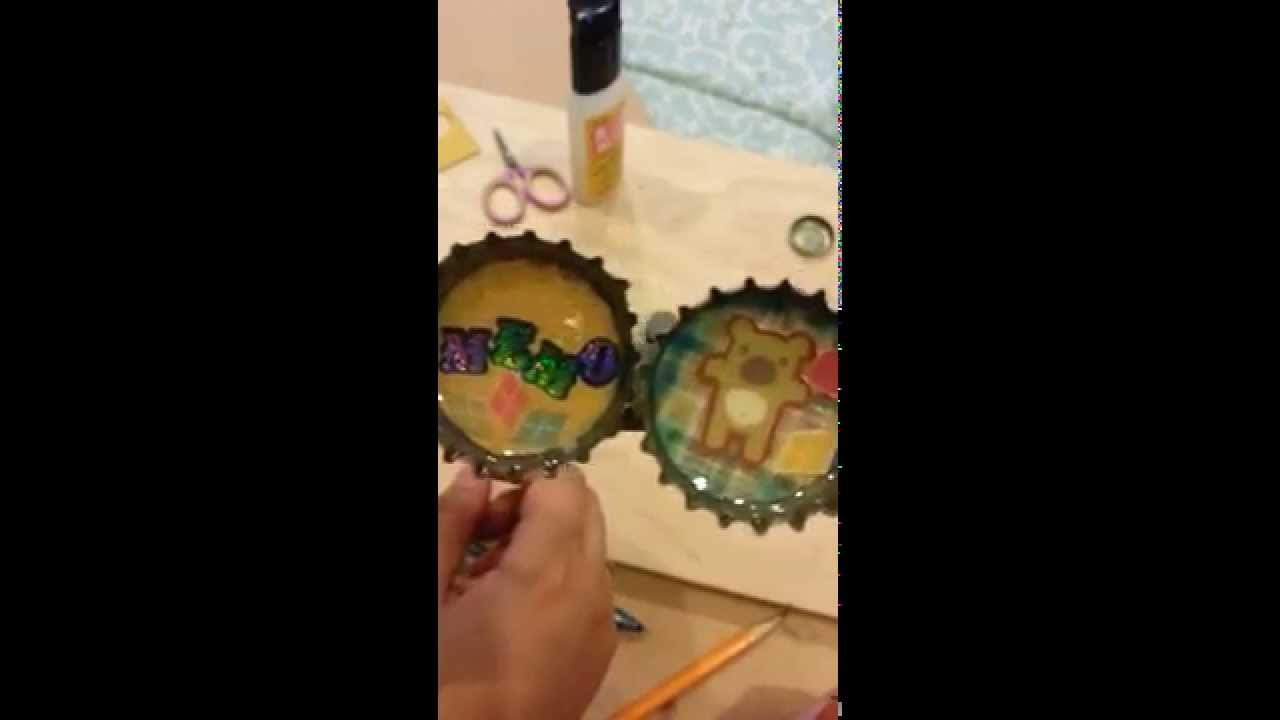 Mod Podge Dimentional Magic Bottle Caps tutorial