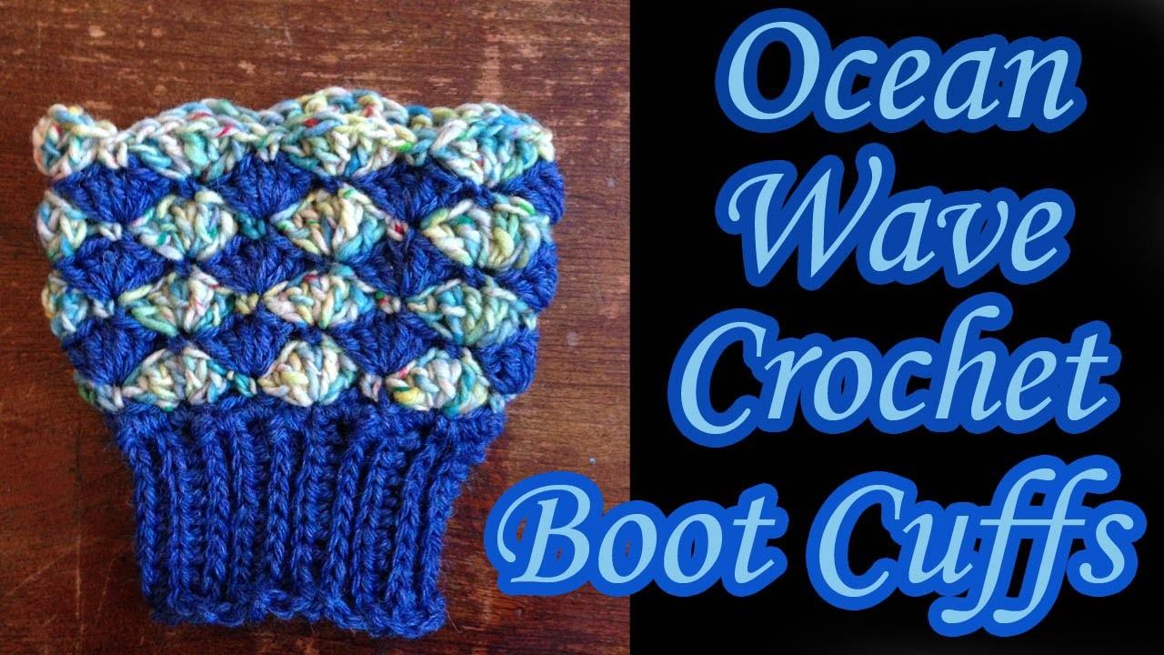 Ocean Wave Boot Cuffs