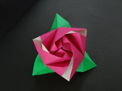 Origami Flower Tutorial - How to fold Origami Rose Cube