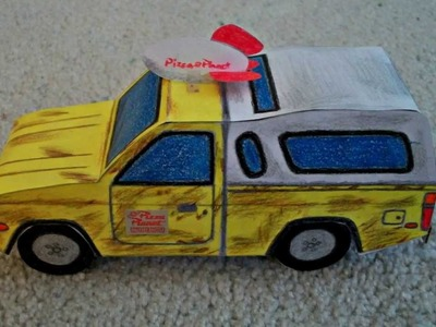 "Paper Model of the Pizza Planet Truck from the Movie ""Toy Story"""
