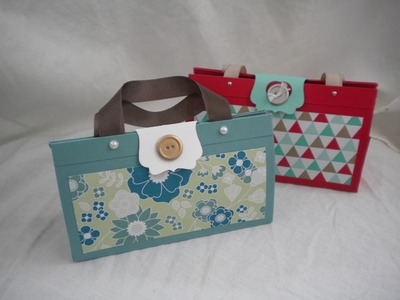 "Paper Treat Purse using Stampin' Up!'s 8 1.2"" x 11"" Card Stock"