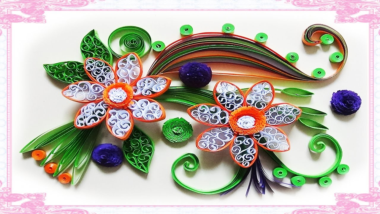 Quilling Made Easy # How to make Beautiful Flower using Paper -Quilling greeting Card