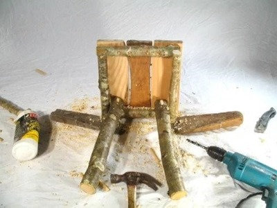 Rustic Furniture - How to Build a Hobbit Stool