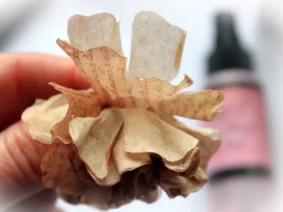 Scraps Of Elegance Kit Club- Tea Bag Flower Tutorial By: Renea Harrison