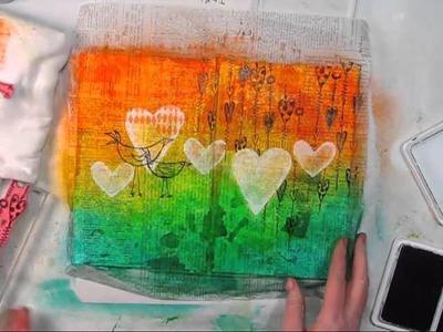 Shari Carroll: Feel the Love February 2013 Art Journaling Feature