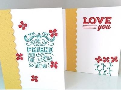 Simply Simple FLASH CARD 2.0 - Flowery Friend Card by Connie Stewart