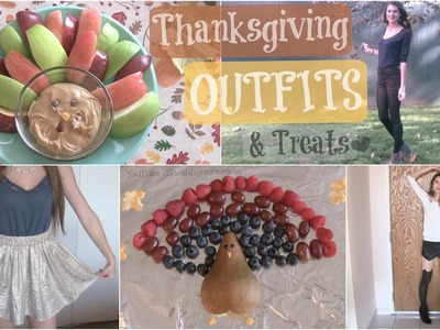 Thanksgiving Outfit Ideas + Last Minute Healthy Treats DIY