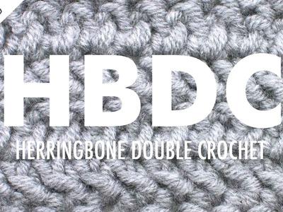 The Herringbone Double Crochet :: Crochet Abbreviation :: Left Handed