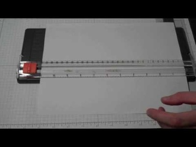 "Using photocopy paper to cut ""clean"" edges on cardstock with your personal paper trimmer"