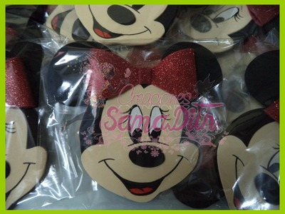 COMO HACER INVITACION MINNIE MICKEY DIY. HOW TO MAKE A BIRTHDAY CARD