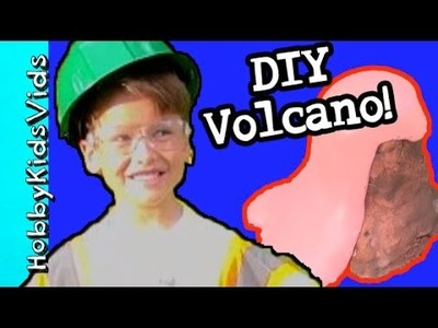 DIY Erupting Volcano With HobbySpider and HobbySue! by HobbyKidsVids