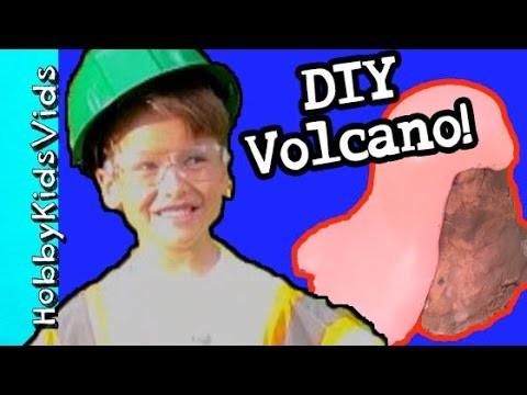 DIY Erupting Volcano With HobbySpider and HobbySue! by HobbyKidsVids