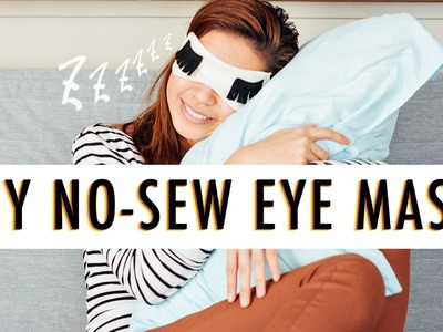 DIY No-Sew Eye Mask | The Sunday Project