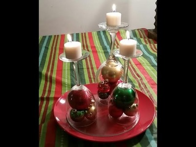 Dollar Tree CHRISTMAS CANDLE CENTERPIECE DIY Craft + Bloopers