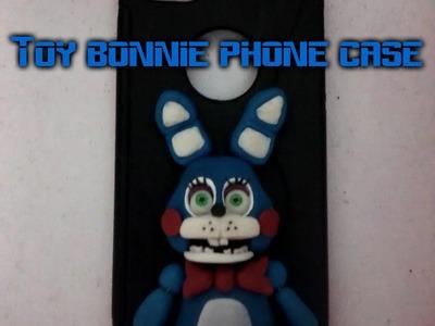 Five nights at freddy's 2 toy bonnie phone case tutorial fnaf. polymer clay.porcelana fria