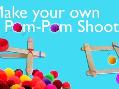Make a Pom-Pom Catapult Shooter   DIY toys   Kids Craft activity   Tiny Pix