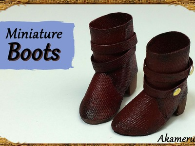 Miniature Doll Boots - Polymer Clay.Fabric Tutorial