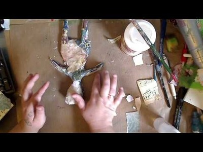 Polymer Clay Art doll-Adding Papers