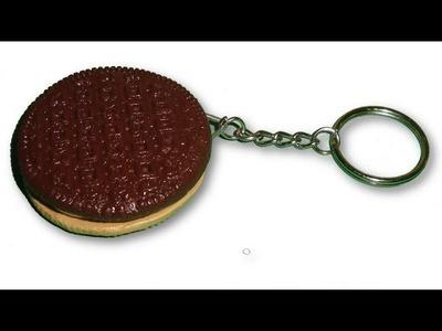 Polymer Clay Duplex Sandwich Keychain