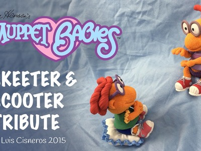 Polymer Clay Tutorial - How to create BABY SKEETER & SCOOTER tribute from the TV show Muppet Babies