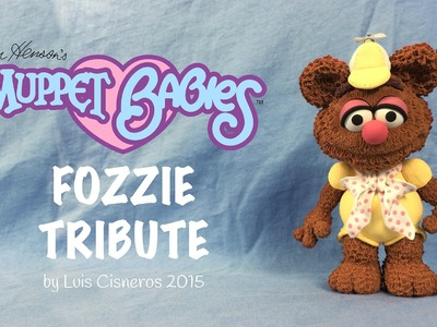 Polymer Clay Tutorial - How to create BABY FOZZIE tribute from the TV show Muppet Babies