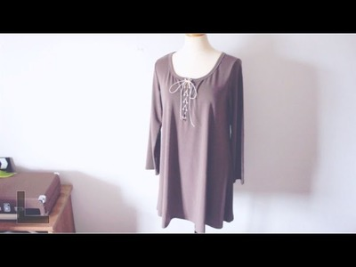 Sewing + Refashion DIY Lace up Dress