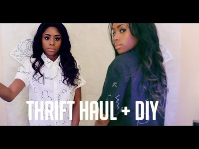 Thrift Shop With Me + DIY Acne Shirts + Haul