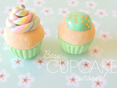 Basic Cupcake: Polymer clay tutorial