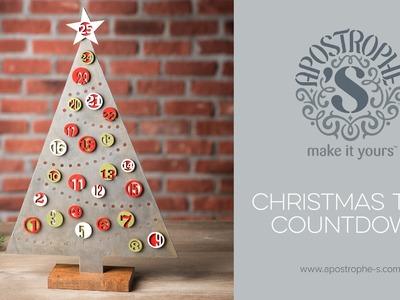 DIY Advent Calendar | Christmas Craft | Apostrophe S | Christmas Tree Countdown