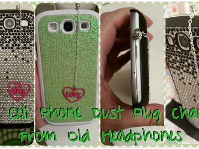 DIY Cell Phone Dust Plugs From Old Headphones