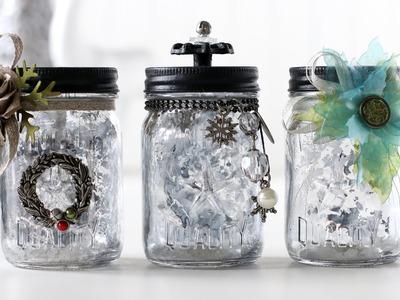 DIY Mercury Glass with Tim Holtz Mason Jars