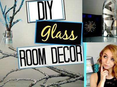 DIY Pinterest Inspired Glass Bottle ROOM DECOR!