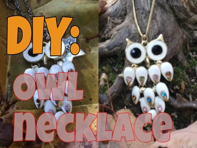 Easy, Cute, DIY Owl Necklace